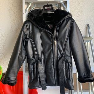 Wilson's Leather Kids Hooded Coat